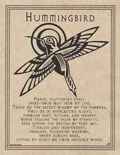 HUMMINGBIRD Parchment Page for Book of Shadows, Altar!