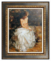 Ramon Kelley Original Oil Painting on Canvas Signed Nude Female Portrait Artwork