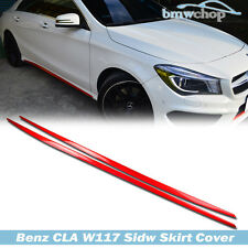 Painted RED Mercedes Benz W117 4DR SEDAN EXTENSION SIDE SKIRTS COVER CLA250