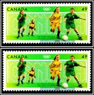 2x CANADA 2004 CANADIAN SUMMER OLYMPIC GAMES SOCCER FACE 98 CENT MNH STAMP LOT