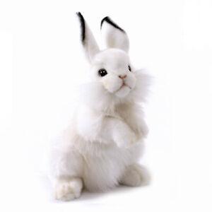 White Bunny Rabbit Hansa Realistic Soft Animal Plush Toy 32cm **FREE DELIVERY**