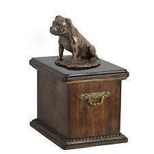 Staffordshire Bull Terrier CONMEMORATIVO Urna para de perro Ashes crematoria