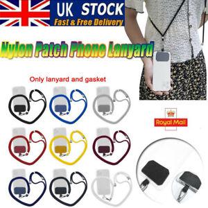 Universal Cross Body Nylon Patch Phone Lanyard Mobile Cell Phone Strap Lanyard