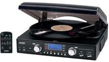Jensen JTA-460 Turntable (USB, AM/FM Receiver) [New Turntable] Belt Drive, Bui