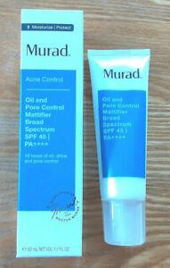 MURAD Oil Pore Control Mattifier SPF 45 New in Box  1.7 oz  50 ml exp 05/22