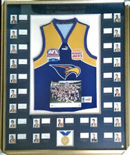 WEST COAST EAGLES 2006 AFL PREMIERSHIP TEAM SIGNED afl lic FRAMED JUMPER l/e.