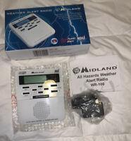 Midland Weather Alert Radio WR-100 RADIO NOAA & Public Alerts Survival