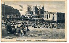 1942 Mondello Lido Palermo Stabilimento Balneare Lucca Emporio Roma FP B/N ANIM