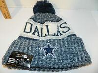 Dallas Cowboys Knit NFL New Era Hat Winter Pom Beanie Knit Cap