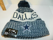 Dallas Cowboys Knit NFL New Era Hat Winter Pom Beanie Knit Cap 3da68145f