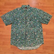 Hang Ten Abstract Vintage 90s Button Front Shirt Short Sleeve Mens Large 100cm