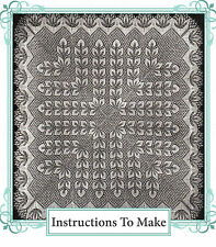 Vintage knitting pattern-instructions to make lace baby christening shawl