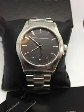 Men's NEW Black/Silver 'French Connection' Watch - Tags/Original Box