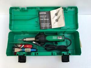 LEISTER TYP TRIAC BT PLASTIC WELDER HOT AIR HEAT GUN 120V 1550W 13A WITH CASE