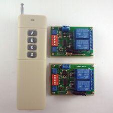 RF Access Control RF Motor Control 4 Buttons Remote Controls 2 pcs Receiver