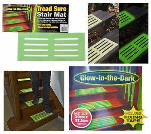 Glow In The Dark Stair Mat RUBBER NON SLIP 39cm x 17.8cm