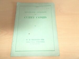 A Vintage Illustrated Catalogue Of  W.H.TILDESLEY Curry Combs -VERY RARE!