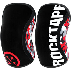 RockTape Assassins Compression Knee Support Sleeves - Red Camo