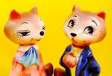 Fantastic Mr Fox Vintage Anthropomorphic Salt and Pepper Shakers Norcrest Napco