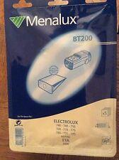 5 Sacchetti Menalux BT200  -nuovo sigillato x Electrolux 748-749-750-768-770-775