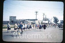 1950s Kodachrome photo slide Vallejo CA Teenage boys and girls school #5