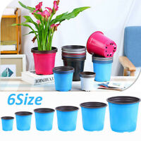 5Pcs Flower Pot Double Color Pot Nursery Plant Basin Plastic Flowerpot