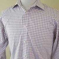 Ralph Lauren Purple Label Check Dress Shirt sz 15.5 Made in Italy French Cuff