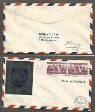 1940 Massena NY Airport Dedication Cover  stk#71