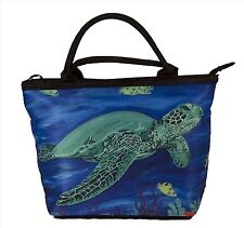 Sea Turtle Handbag- Small Purse -From my Original Painting, Wisdom
