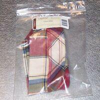 Longaberger Paprika Plaid CRACKER Basket Liner ~ Brand New in Original Bag!