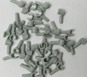 Lego 10 Medium Stone Grey Hands Hand For Minifigure Figure 5 Pair  ( No Arms )