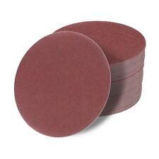 150 mm Exzenter Schleifscheiben ohne Loch Schleifpapier Klett P36-P1200 rot