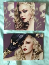 MADONNA LOT 2 postcards postcard set MNDA Skin care line 2017 sexy rebel heart