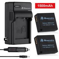 2PCS DMW-BLG10 BLG10E Battery + Charger for Panasonic DMC-ZS60 GX85 ZS100 LX100
