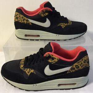 Nike Womens Air Max 1 Leopard Print Trainers Size UK 6 EU 40