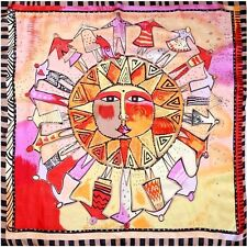 """100% Silk Scarf Sunshine Apollo 33"""" X 33"""" Thin Square Bandana Neckerchief"""