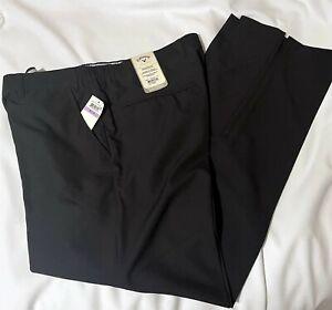 CALLAWAY GOLF SERIES X Wicking Pants NWT Black Zip Ankle Elastic Waist Sz. 38x32