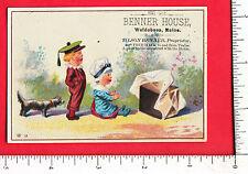 7622 Tilson Benner House inn hotel advert trade card Waldoboro ME dog children
