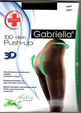 3D Push-up Strumpfhose figurformend blickdicht 100 den Bauch-weg mit Aloe Vera