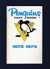 Pittsburgh Penquins 1972-73 hockey media guide