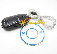 Guitarra Negra a la interfaz USB Cable de enlace Ajuste Adaptador De Audio Pc/Mac de grabación