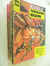 34 x Comic - Korak - Tarzans Sohn - Sammlung - bsv -Z.1-2/2