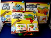 Build your own Toy Bundle Lot of 3 Sets - Airplane, Truck & Motorbike SALE