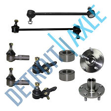 Kit: 2 Front Wheel Hub Bearings + 2 Tie Rods + 2 Ball Joints + 2 Sway Bar Links