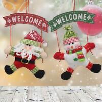 1pc Santa Claus Door Hanging Christmas Tree Home Decor Ornaments Xmas Gift