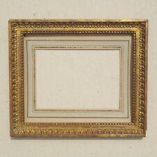 CADRE BAGUETTE STYLE LOUIS XVI  EPOQUE XXe   vue passe partout : 14,3 x 19,8 cm