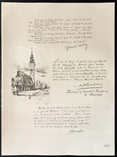 1926 - Lithographie citation de Maurits Sabbe, A. Vlemincx, Vermeylen