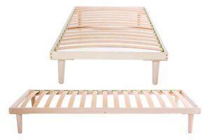 Birch Wood 3ft Single Slatted Bed Frame Orthopedic Base Easy to Assemble Slats