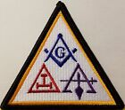 Freemason Symbol Embroidered Iron-On Patch Masonry Emblem Mason Version III