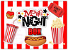 Movie Night Large Rectangle  Stickers Letterbox Birthday Party Bag Sweet Box